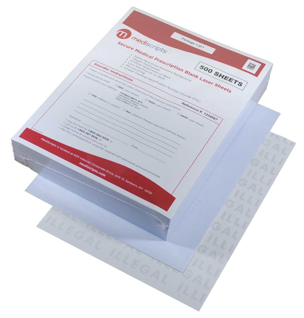 Mediscripts Secure EMR Prescription Paper